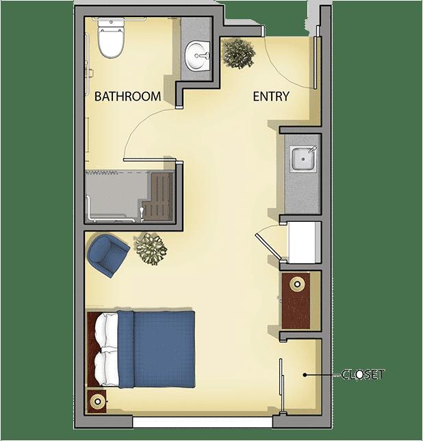 Senior Living Private Suite